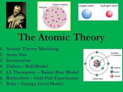 Atomic Theory - History of the Atom PowerPoint Lesson and Student Notes