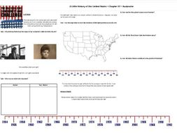 Boom & Bust- Worksheet to support J.W. Davidson's 'A Little History of the United States' Chp 37