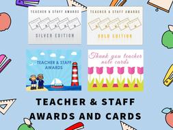 Teacher & Staff Awards and Cards  Bundle