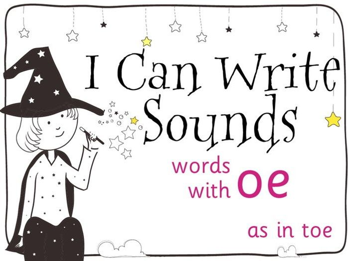 Magic Sounds Phonics Set 60 words with oe (as in toe) by ...