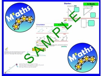 Trigonometry (4 Lessons) - Finding Missing Lengths/Angles/Problem Solving/Revision