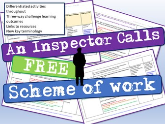 An Inspector Calls Scheme of Work