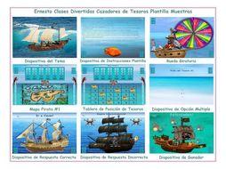 Treasure Hunt Spanish PowerPoint Game Template