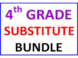 Fourth Grade Substitute Bundle (25 Worksheets)