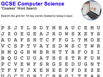 GCSE Computer Science: Word puzzle (Software)