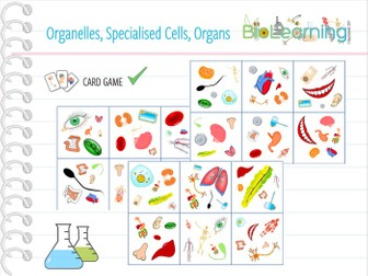 Organelles, Specialised cells, Organs - Card Game