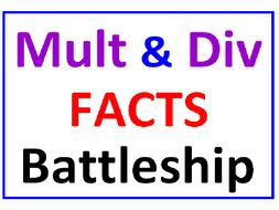 Multiplication and Division Facts BATTLESHIP with Less Than Greater Than