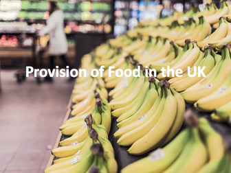 The Challenge of Resource Management - Provision of food in the UK