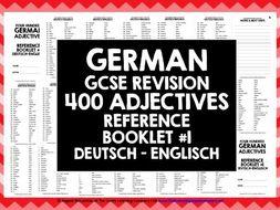 GERMAN ADJECTIVES REFERENCE GERMAN-ENGLISH