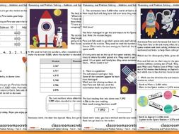 Addition and Subtraction Maths Consolidation Year 4 Autumn Block 2 Reasoning and Problem Solving