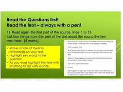 AQA Language Paper 1:  Q1 to 4 using Hound of the Baskervilles extract