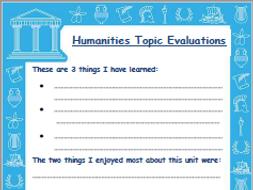 KS2 Topic Evaluation