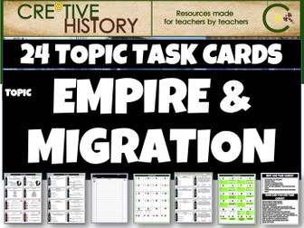 Empire Migration History Task Cards