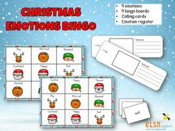 Christmas emotions bingo