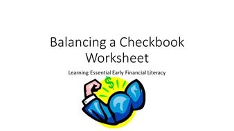 Balancing a Check Book Practice Page 1
