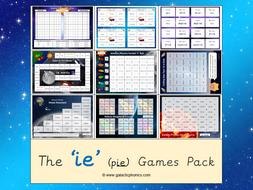 The 'ie' (long i) Phonics Games Pack