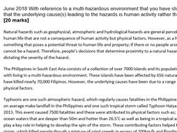 New A level Geography - Natural hazard exemplar essays