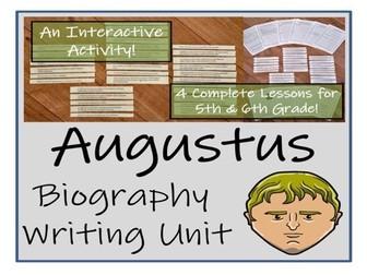 UKS2 History - Augustus Biography Writing Unit