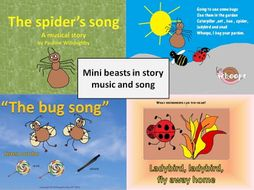 Mini beasts with percussion, story and song for non specialists