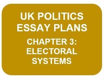 UK POLITICS ESSAY PLANS: CH3