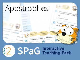 Year 2 SPaG Interactive Teaching Pack - Apostrophes