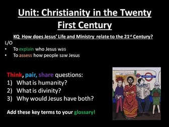 Christianity in the 21st century KS3 RE