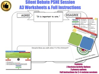PSHE Silent Debate Activity  (Form time/tutor time/PSHE sessions ) [PSHEE / PSE / PSHCE / PSED]
