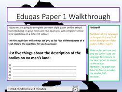 Eduqas English Language Paper 1 Walkthrough