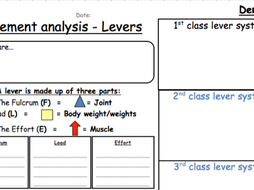 Lever system worksheet
