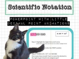 Scientific Notation Powerpoint with animations