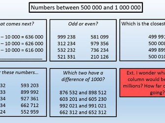 Place Value PowerPoint for KS2