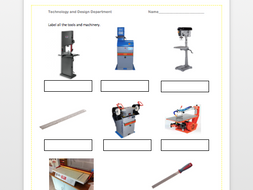 Tools and equipment in Technology and Design