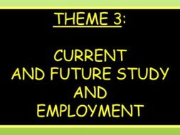 NEW GCSE / Current and future study and employment (2016+)