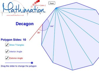 Regular Polygons Visualisation