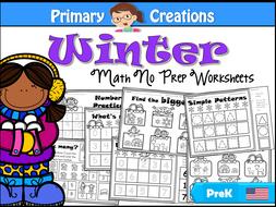 Winter Maths Activities for PreK (USA Edition)