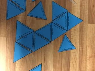 GCSE PE New Edexcel spec, Fitness testing/Components of fitness Tarsia Triangle puzzle task