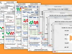 Year 5 Numbers to 100,000 Autumn Block 1 Step 4 Maths Lesson Pack