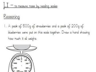 Y3 Measurement Differentiated worksheets