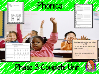 Phonics Phase 3 Complete Unit of Lessons