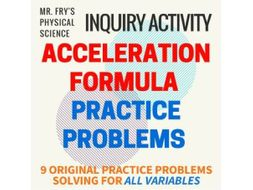 acceleration formula practice problems by integrationscience