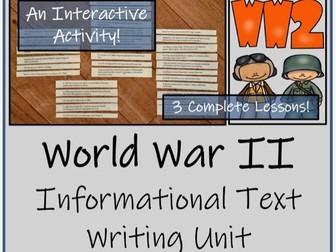 UKS2 History - World War II Informational Text Writing Unit