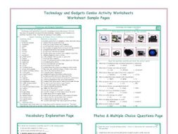 Technology and Gadgets Combo Activity Worksheets