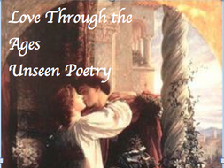 Unseen Poetry Love Through the Ages 7 paired poems with questions AQA