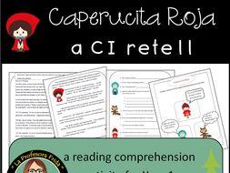 Caperucita Roja, Little Red Riding Hood Spanish Reading Comprehension