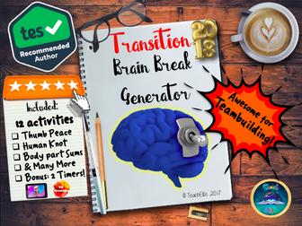 Transition: Brain Breaks