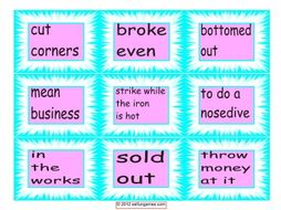 Idiom Cards #2-4 Pages = 36 Cards