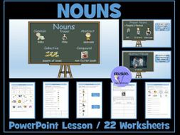 Nouns: PowerPoint Lesson and Worksheets