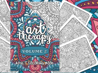 Adult Coloring Book | Art Therapy Volume 2 | 20 coloring pages | Printable PDF Coloring Book