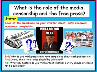 Role of the Media - Edexcel Citizenship