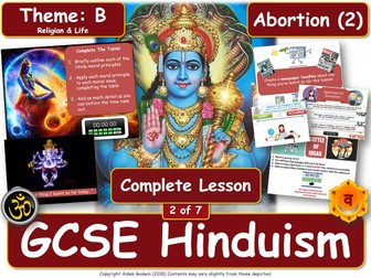 Abortion - Hindu Views & Teachings (GCSE RS - Hinduism - Religion & Life) L2/7